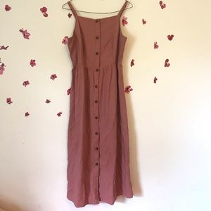 pink buttoned dress